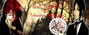 Grell and Sebastian Signature by L-luvs-cake