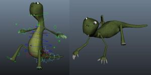 lizard rig test by mr-womble