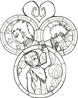Stained Glass Lineart by bucketmouse