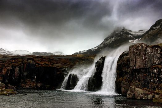 Storm Over Kirkjufellsfoss by Coigach