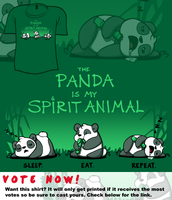 Woot Shirt - The Panda Is My Spirit Animal by fablefire