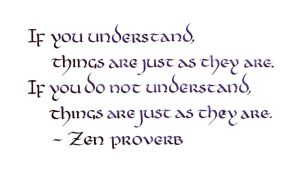 Zen Proverb - If You Understand (1) by MShades