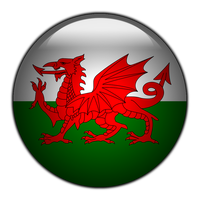 Welsh flag glass ORB by stumpy666davies
