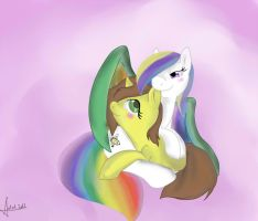 Com: Two ponies in love by Bally-Vhern