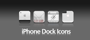 Even a Black Style Dock Icons by gfx4more