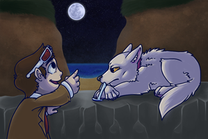 Wolves don't understand astronomy by MechaSharkey