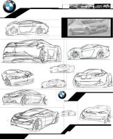 V2 BMW M1 sketches Layout by Dannychhang