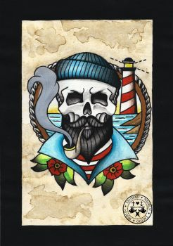 tattoo-flash sailor man by Tausend-Nadeln