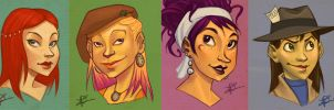 Yet More Portraits by thundercake