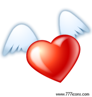 Flying Heart Icon by Aha-soft
