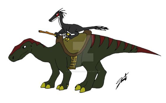 Troodon rider by TroodonKid2007