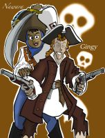 Red Roger crew - Nawara and Gingy by BillyBones0704