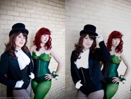 Zatanna and Poison Ivy by esophia