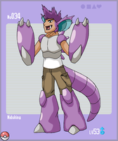 Gijinka No. 034 - Nidoking by CallMeShaudo