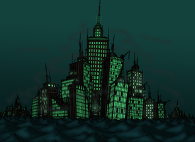 the Drowned City of Nox-Azerzex by TenebraesRising
