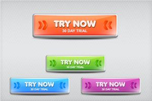 Bright Web Buttons using the 3D Options by Designslots
