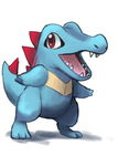 Totodile by Foxeaf