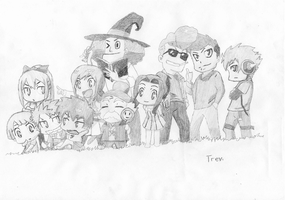 Fairy Tail Chibi Members by LTrevill