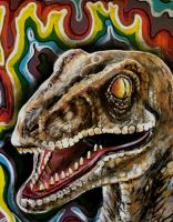 Rainbow Raptor by ckrickett