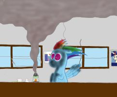 Rainbow Dash- Chem 103 by Trueblue02