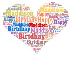 Hapy birthday Maddison by hiaamir