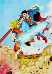 Songoku vs Superman by Latchunga
