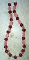 Think Pink Necklace by readheadgirl