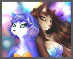 Clubbin' Krystal + Kat by Luminosion