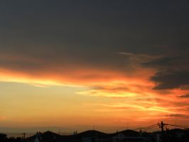 sunset and clouds 4 by voyagerartworkdesign