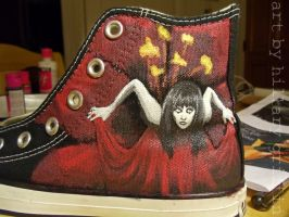 Smashing Pumpkins Shoes WIP by HeyThereYoungDreamer