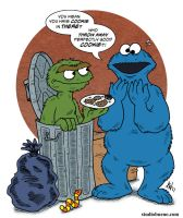 Oscar and Cookie Monster by StudioBueno