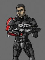 Commander Shepard by Morthon