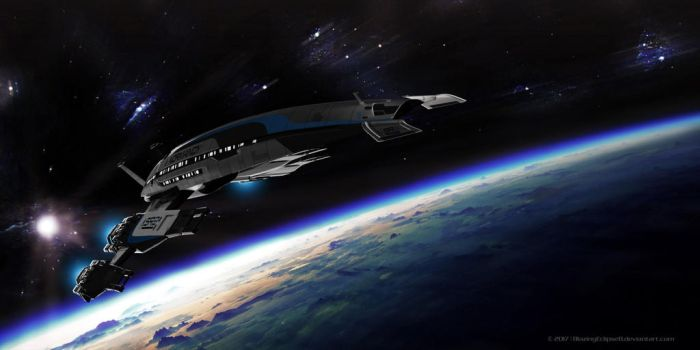 Normandy Earth flyby by BlazingEclipse8