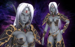 Mystial the Dark Elf by Primantis