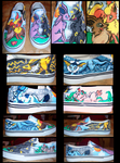 Eevee Evolution Shoes by Brokenfeather-san
