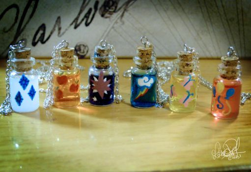 CutieMark Bottle Charms by Chibi91