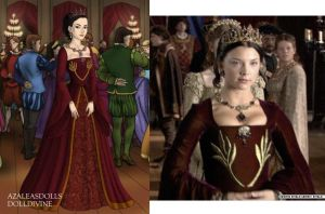 Anne's burgundy court gown by LadyAquanine73551