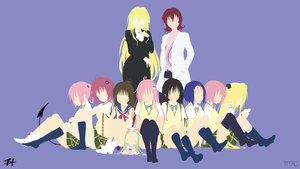 To LOVE-Ru Girls Minimalist Wallpaper (Collab) by slezzy7