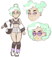 Some character design by littlebink