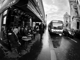 Cafe in the bus stop by rdevill