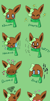 Berii the Eevee: Emotions Ref. by SweetBeriiChu