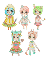 Adoptables: Easter Collection (all taken) by rainy-tea