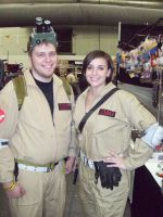 Ghostbusting Couple by knight28