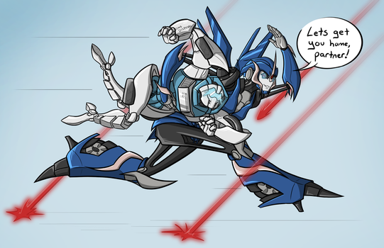 Tailgate And Arcee by lizwuzthere