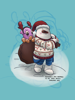 Christmas Chatter Request II :: Alphaman and Zed by stinawo