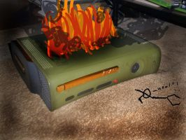 The Xbox 360 Burns... by meggyweggy
