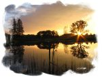 The sunset on a pond by Eilish