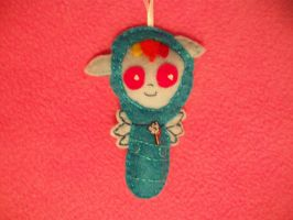 RAINBOW DASH BABY HANDSEWN ORNAMENT by grandmoonma