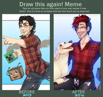 Draw This Again! (Markiplier Edition!) by Maxxie-Delu