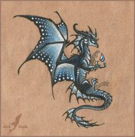 Dark water dragon design by AlviaAlcedo